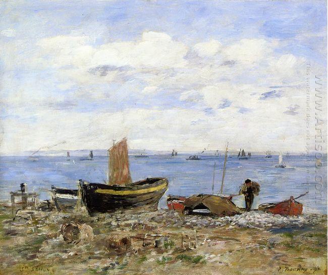 Shore At Sainte Adresse Low Tide 1894