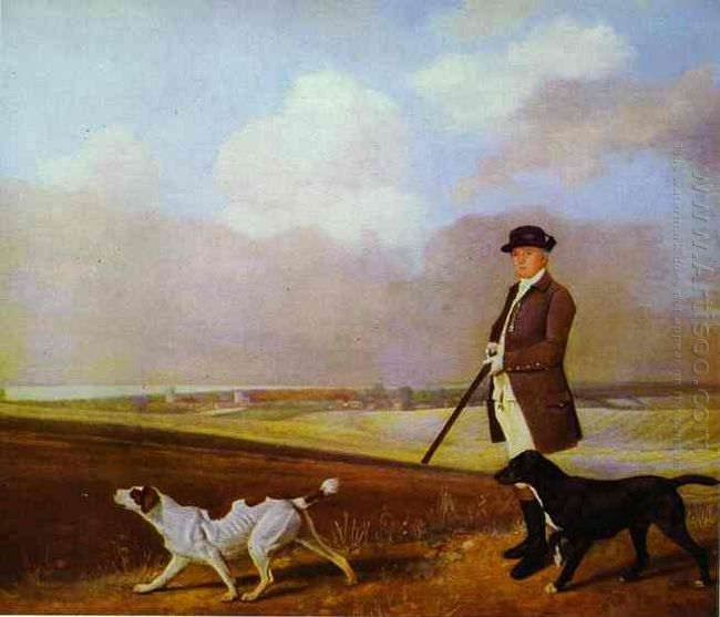 Sir John Nelthorpe 6Th Baronet Out Shooting With His Dogs In Bar
