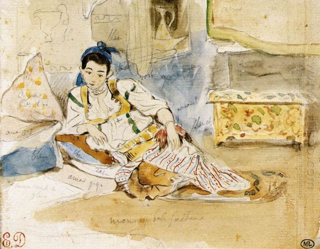 Sketch For The Women Of Algiers 1832