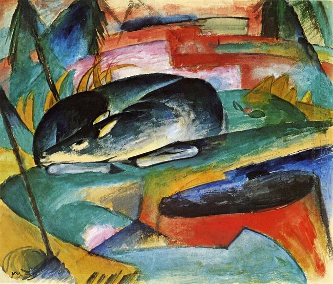 Sleeping Deer 1913