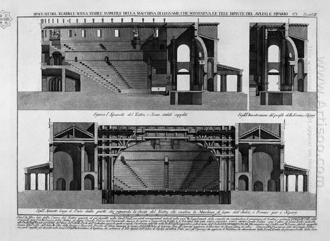 Split Of The Theater And Stage Stable Supple And Machine Of Wood