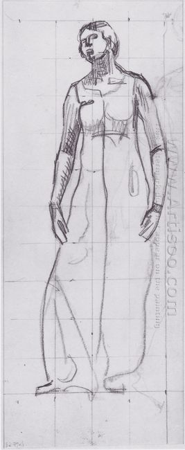 Standing Draped Figure 1