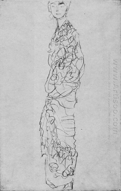 Standing Woman In Kimono Dame Im Kimono 1918