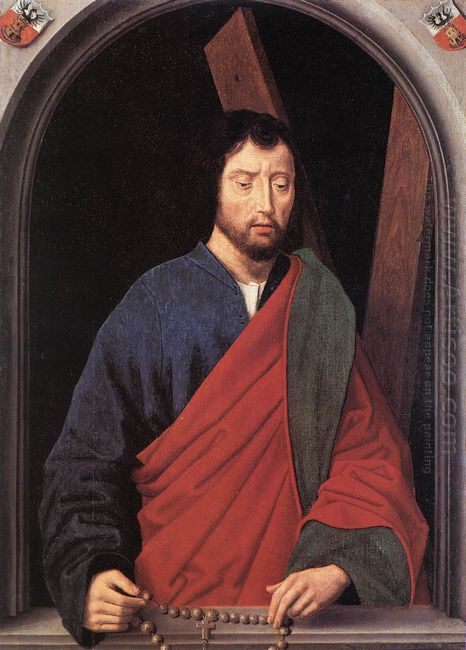 St Andrew Left Wing Of A Diptych Reverse 1490
