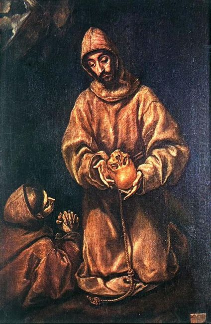 St Francis And Brother Rufus 1606