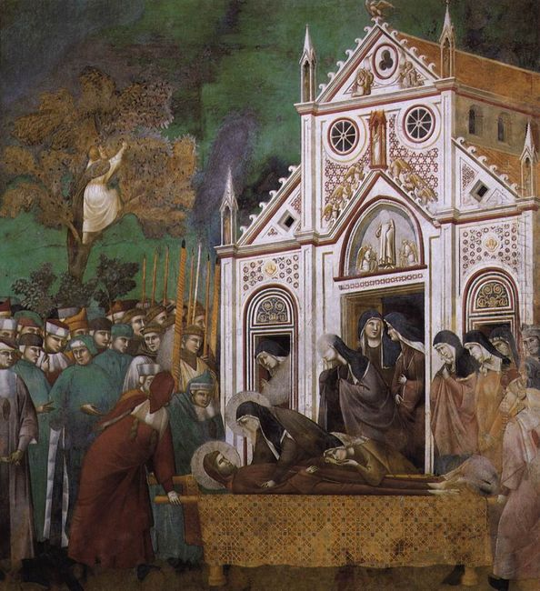 St Francis Mourned By St Clare 1300