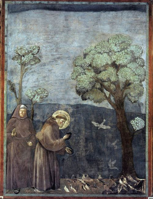 St Francis Preaching To The Birds 1299