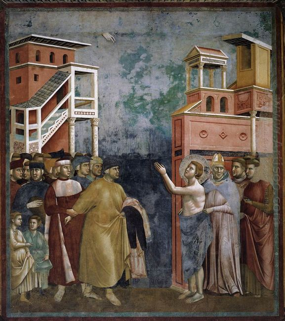 St Francis Renounces All Worldly Goods 1299
