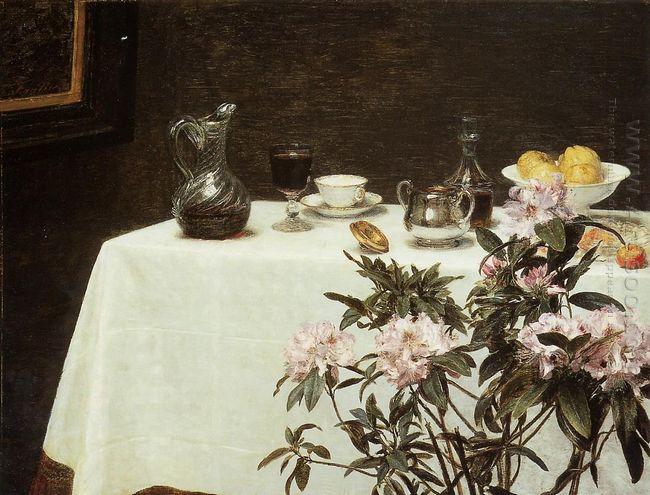 Still Life Corner Of A Table 1873