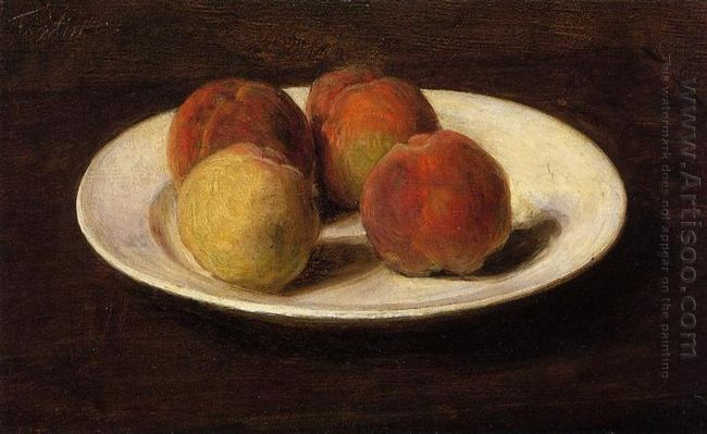 Still Life Of Four Peaches 1862