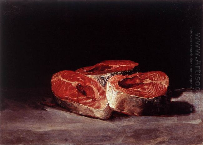 Still Life Three Salmon Steaks 1812
