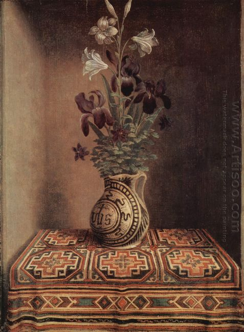Still Life With A Jug With Flowers The Reverse Side Of The Portr