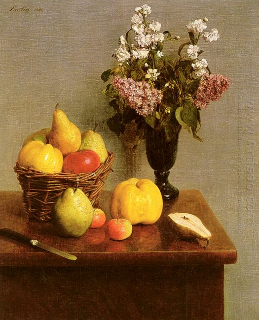 Still Life With Flowers And Fruit 1866