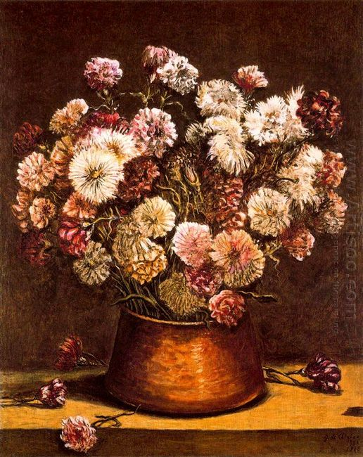 Still Life With Flowers In Copper Bowl