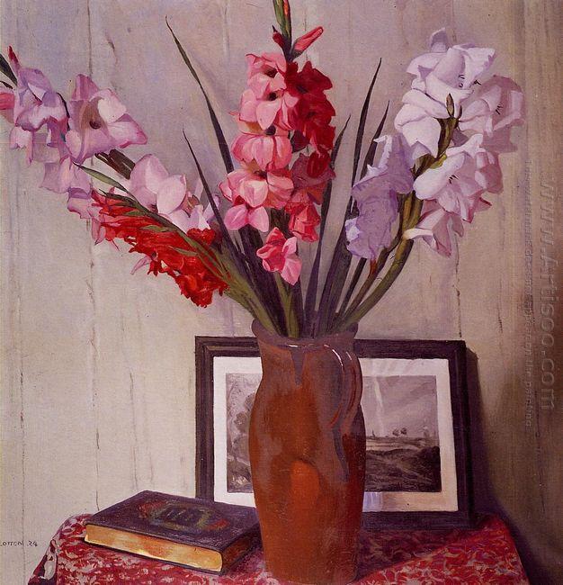 Still Life With Gladioli 1924
