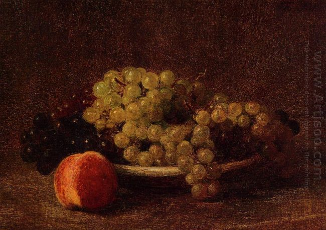 Still Life With Grapes And A Peach 1895