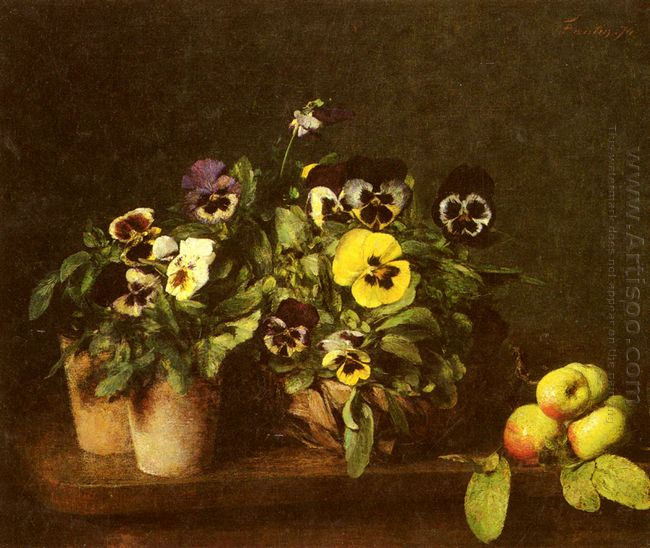 Still Life With Pansies 1874