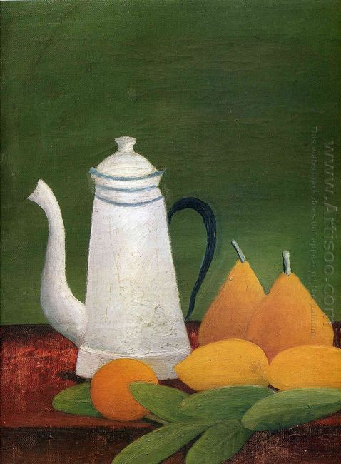 Still Life With Teapot And Fruit
