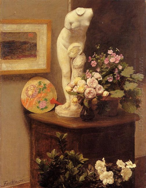 Still Life With Torso And Flowers 1874