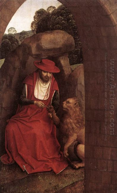 St Jerome And The Lion 1490