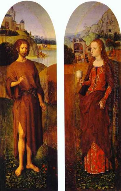 St John The Baptist And St Mary Magdalen Wings Of A Triptych