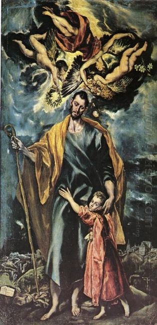 St Joseph And The Christ Child 1599
