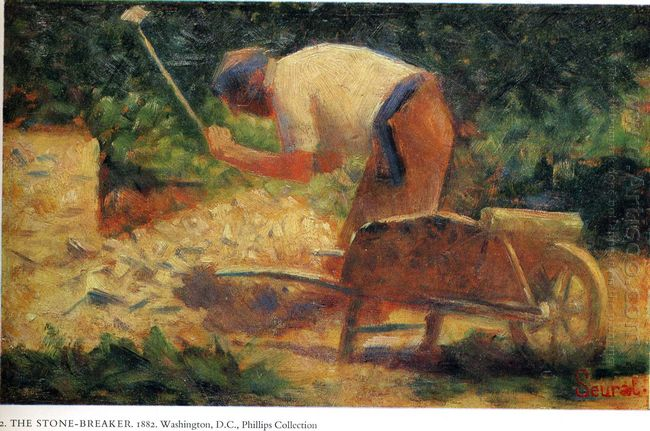 Stone Breaker And Wheelbarrow Le Raincy 1883