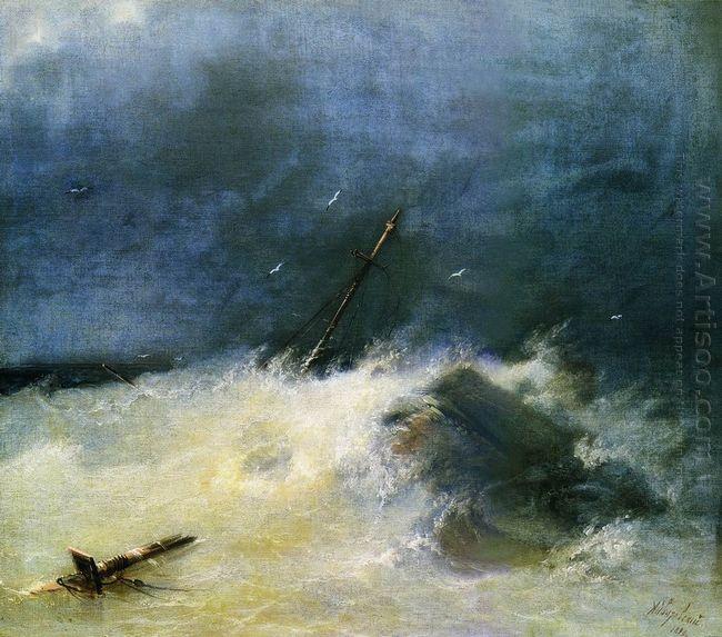 Storm At Sea 1893 1