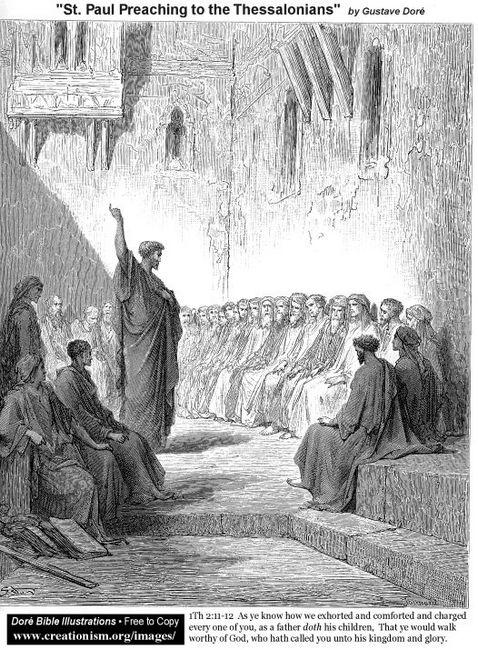 St Paulpreachingtothethessalonians