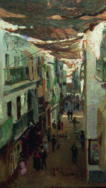 Street Of The Snakes In Seville 1883