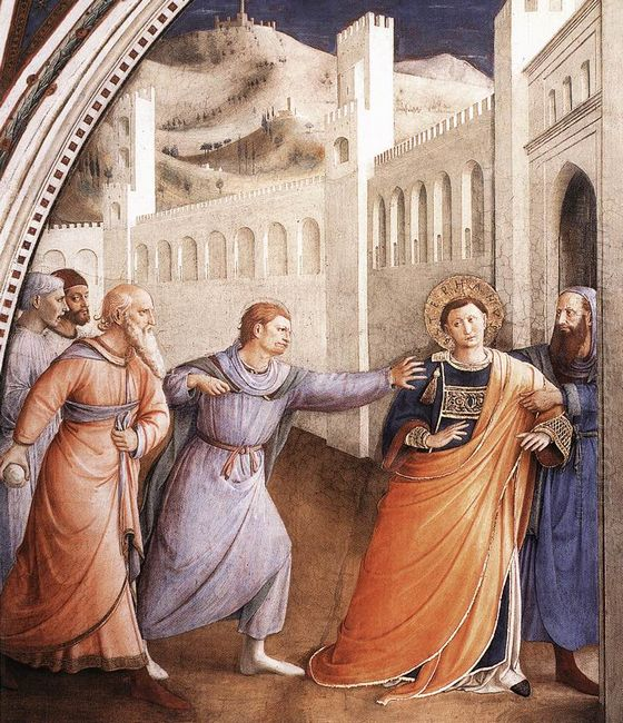 St Stephen Being Led To His Martyrdom 1449