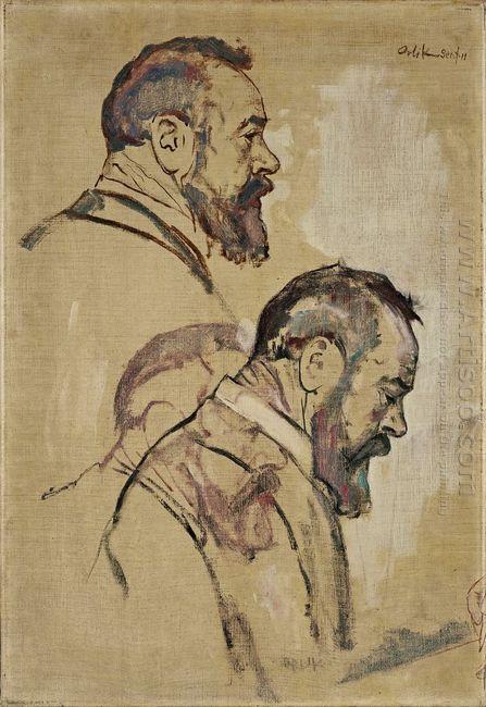 Studies Of Self Portrait 1911