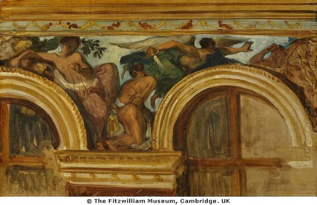 Study For Part Of The Justice Frieze 1836