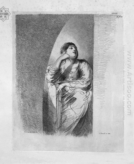 Study For The Adulteress Half Figure With Folded Arms From Guerc