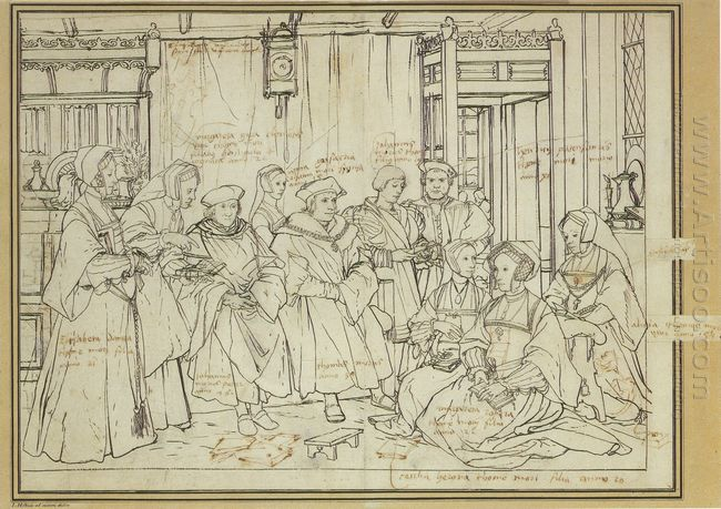 Study For The Family Portrait Of Thomas More