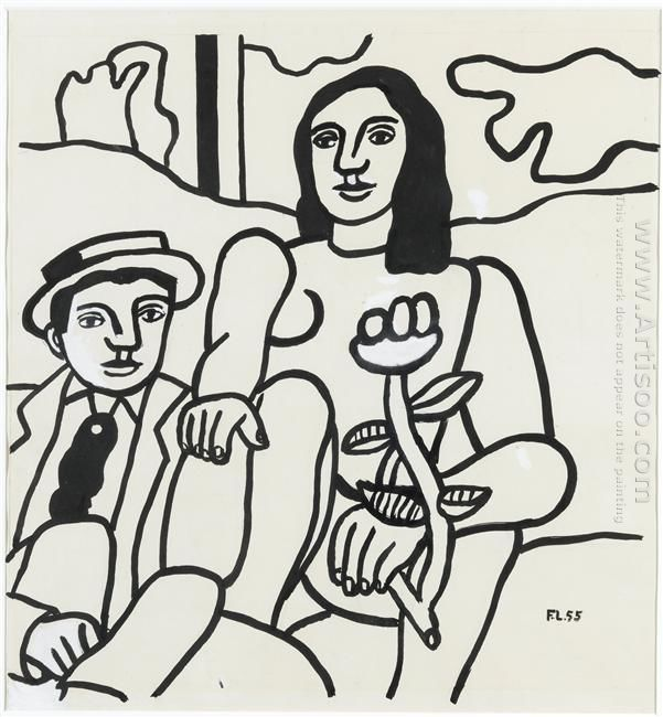 Study For The Two Lovers 1955