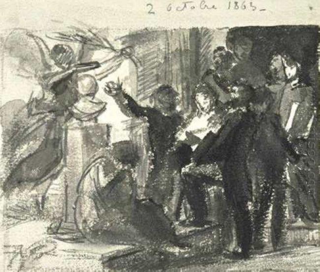 Study Homage To Delacroix