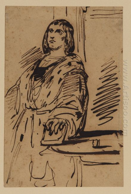 Study Of A Man In Costume