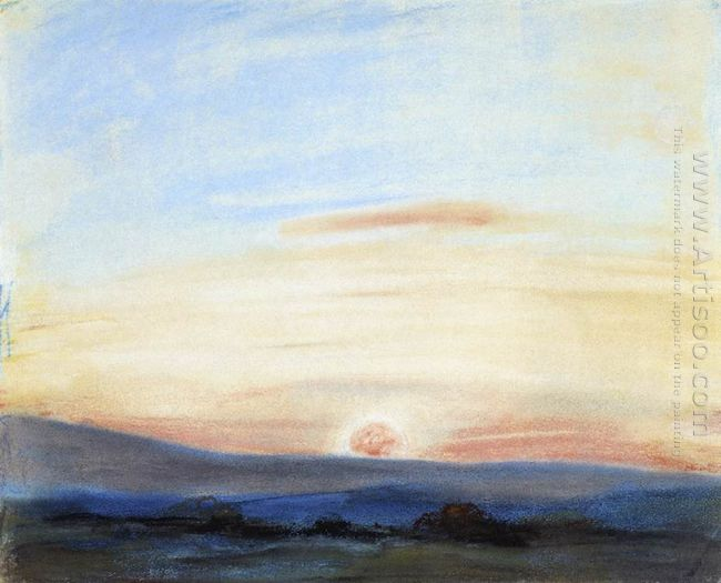 Study Of Sky Setting Sun 1849