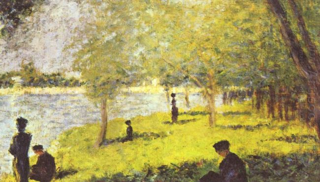 Study With Figures Study For La Grande Jatte 1885