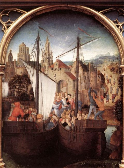St Ursula And Her Companions Landing At Basel From The Reliquary
