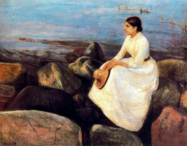 Summer Night Inger On The Shore 1889