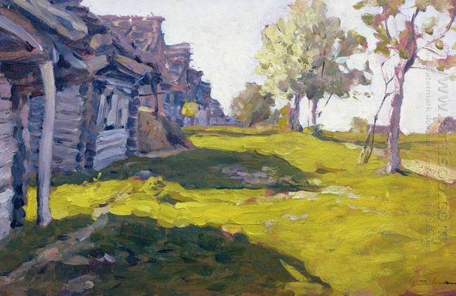 Sunny Day A Village 1898
