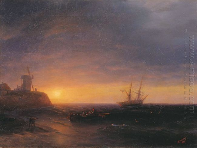 Sunset At Sea 1878