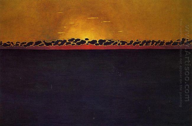Sunset Gray Blue High Tide 1911