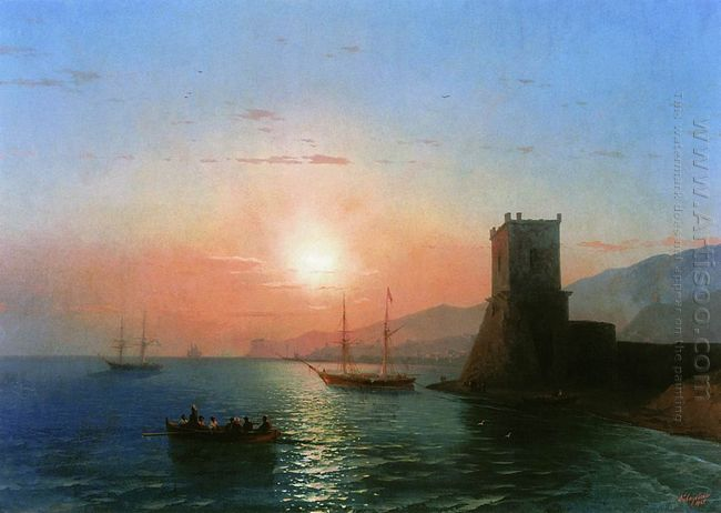 Sunset In Feodosia 1865