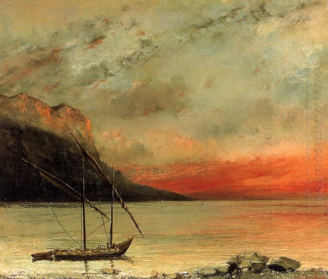 Sunset Over Lake Leman 1874