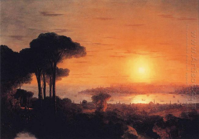 Sunset Over The Golden Horn 1866