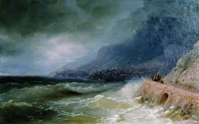 Surf Near Coast Of Crimea 1880