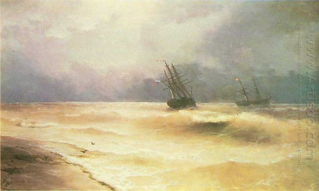 Surf Near Coast Of Crimea 1892
